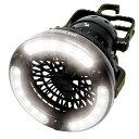 \楽天カードでポイント5倍/【送料無料】LEDライト付 扇風機 送風機 電池式ライト&ファン OUTDOOR MAN KOLT-001B キャンプ アウトドア用品 送風 持ち手付き テントライト 電灯 手持ち 明るい 吊り下げ
