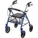 ショッピングLIVE 『送料無料』ドライブデヴィルビス 歩行車 PiacereUno(ピアチェーレ ウノ) ブルー 折りたたみ式歩行器 18-1249 10257BL-1 介護用 高齢者 歩行器