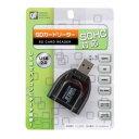 \楽天カードでポイント9倍/OHM SDカードリーダー USB2.0 SDHC対応 PC-SCRW-04