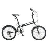 ハマー FDB206 W-sus 20インチ 6段変速 折畳自転車 マットブラック