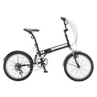 ハマーFDB206_W-sus_20インチ_6段変速_折畳自転車_マットブラック