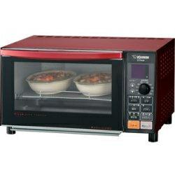 メタリックレッド オーブン トースター