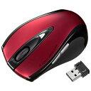 サンワサプライ MA-NANOLS12R(レッド) USB ワイヤレスレーザーマウス 無線(2.4GHz) 接続 5ボタン