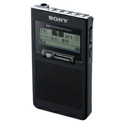 ブラック ワンセグ ポケッタブルラジオ
