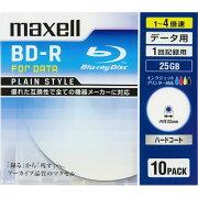 マクセル BR25PPLWPB.10S データ用 BD-R 25GB 1回記録 プリンタブル 4倍速 10枚
