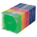 サンワサプライ FCD-PU50MX(5色ミックス) DVD CDケース 50枚 10枚x5色パック