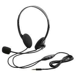エレコム HS-HP22TBK(ブラック) ヘッドセット 両耳小型オーバーヘッドタイプ タブレット用