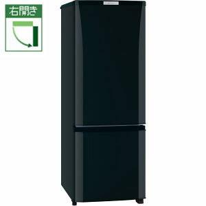 【設置+リサイクル】三菱 MR-P17Z-B(サファイアブラック) Pシリーズ 2ドア冷蔵庫 右開き 168L