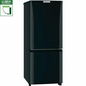 【設置】三菱 MR-P15Z-B(サファイアブラック) Pシリーズ 2ドア冷蔵庫 右開き 146L