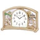 CITIZEN 4SE540-018(金色/白) ファンタジーランド540 目覚まし時計