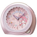 セイコー CQ 143P(ピンクメタリック塗装) マイメロディ 目覚まし時計