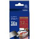 ブラザー TZe-RW34 ピータッチ TZeテープ リボンテープ 金文字/ワインレッド 12mm幅