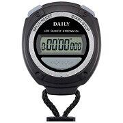 リズム時計 8RDA60DA02(ブラック) ストップウォッチ060
