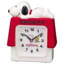 リズム時計 4SE551MS03(白) クオーツめざまし時計 スヌーピーR551