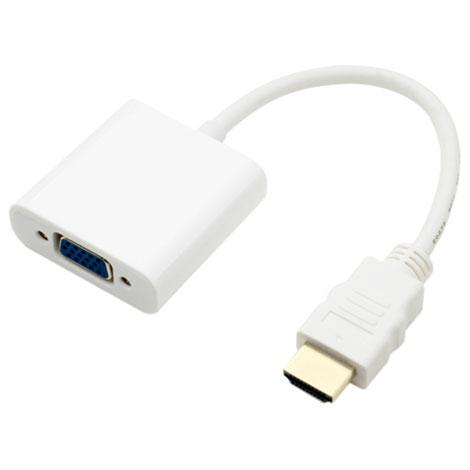 ミヨシ HDA-DS01/WH FullHD対応 HDMI - D-sub 変換アダプタ 0.14m