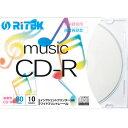ライテック CD-RMU80.10P C 音楽用 CD-R 700MB 一回録音 プリンタブル 32倍速 10枚