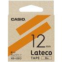 CASIO XB-12EO(オレンジ) ラテコ 詰め替え用テープ 幅12mm