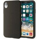 エレコム PM-A18CSCBK(ブラック) iPhoneXR用 シリコンケース