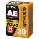 【送料区分A】【お取り寄せ(通常7日程)】TDK AE-30X11G ノーマルテープ 30分 11本 AE30X11G