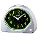 セイコー KR511S(銀色メタリック塗装) クオーツ 夜でも見える 目覚まし時計