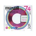 【送料区分A】【お取り寄せ(通常7日程)】MAXELL TMD74MIXK.5P ミニディスク 74分 5枚 TMD74MIXK5P