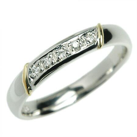 プラチナ K18 結婚指輪 マリッジリング ブーゲンビリアダイヤ Pt950×K18 プレゼントにもおすすめ