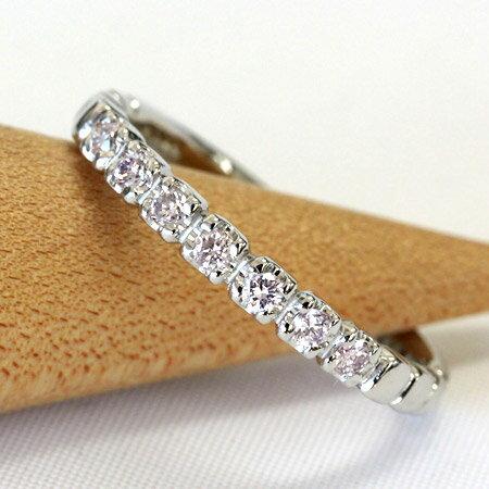 プラチナ リング 天然 ピンクダイヤモンド スト...の商品画像