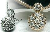 K18 ローズカット×ダイヤモンドペンダントネックレス0.20ct【楽ギフ包装】