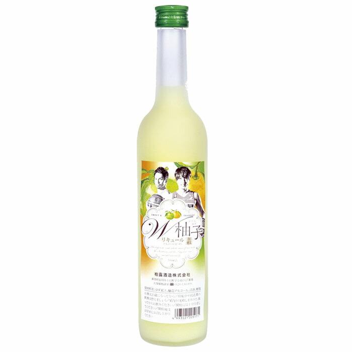 越乃柏露 W柚子(ダブルゆず)500ml 柏露酒造新潟アルビレックスBBラベル