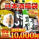[第16弾改]越乃寒梅&大吟醸中川入り日本酒福袋1.8L×5本(大吟中川、幾久屋or越、越後