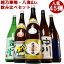 日本酒 飲み比べセット 越乃寒梅&八海山入り第45弾 180...