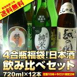 危なすぎる4合瓶福袋!日本酒飲み比べセット720ml×12本[]【RCP】【02P01Mar15】