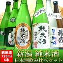 日本酒 純米酒 飲み比べセット 純米酒だけ 720ml×6本(越後純米 朝日山純米 さらら お