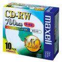 マクセル CDRW80PW.S1P10S CD-RW 700MB 4倍速 ホワイトプリンタブル 5mmケース 10枚入(CDRW80PW.S...