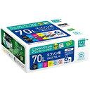 ecorica リサイクルインクカートリッジ EPSON 6色パック IC6CL70L ECI-E70L-6P【smtb-s】