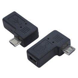 変換名人 USB mini5pin → microUSB 右L型 変換アダプタ USBM5-MCRLF