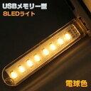 パイナップル USBメモリー型 USB接続 8LEDライト 電球色