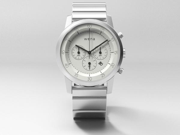 SONY(ソニー) ウェアラブル端末 「wena wrist Chronograph White」 WN-WC01W【smtb-s】