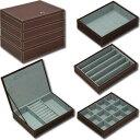 ショッピング収納ボックス ユーパワー 4段ジュエリーボックス「ブラウン」【YB-05002】【smtb-s】