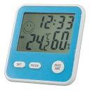 EMPEX(エンペックス気象計) デジタルMini温度・湿度計 時計 アクアブルー TD-8326 (1105354)【smtb-s】