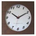 ショッピング電波時計 フォーカス・スリー ウォールナットの時計 電波時計 ブラウン V-0018 (1170470)【smtb-s】