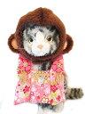 プリンカンパニー 猫ちゃんのコスプレ お猿ちゃんの晴れ着セット 金彩ピンク(1コ入)【smtb-s】
