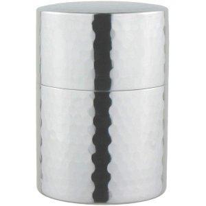 ナガオ ステンレス槌目茶筒 ミラー