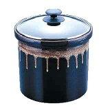 陶器製 漬物容器[ガラス蓋] 1号 1.8l 業務用 【 業務用 】【 漬物容器 漬物 つけもの 容器 】
