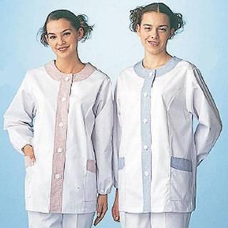 女性用デザイン白衣 長袖 FA-723 M 【 調理衣 ユニフォーム 】
