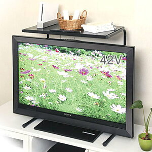 【GWも営業】テレビ上ラック 伸縮タイプ  TV-EX ブ