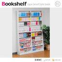 大人気限定送料無料セール%OFF!SALE壁面収納  薄型書棚120cm幅 ホワイト