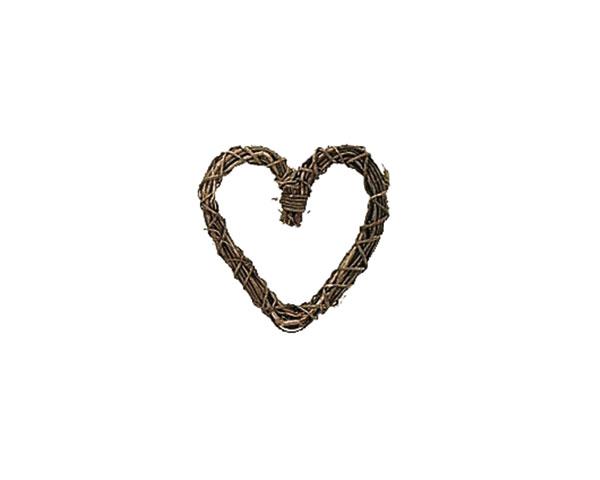 籐のある生活土籐ヌードリースハート型12cm「37-19」花・ガーデン・DIY/フラワーアレンジメン