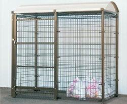 ゴミステーション 大型ゴミ箱 シコク ゴミストッカー LMF10型 引き戸式 アルミ屋根 アンカー式 GSM10-A2010 [自治会/町内会/設置/屋外/カラス/対策/猫/大容量/ごみ/ゴミ箱] [送料無料][お客様組立]マンション・アパートの収集所設置にもオススメ!