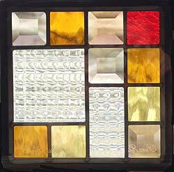 遮音・断熱・防犯性のステンドグラス ピュアグラス Dサイズ 200mmスクエア SH-D07 [ステンドグラス/ガラス/インテリア/窓/小窓/室内/屋内]